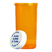 60 Dram Amber Prescription Pill Bottle PCR60NA