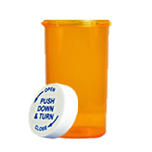 40 Dram Amber Prescription Pill Bottle PCR40NA
