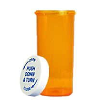 16 Dram Amber Prescription Pill Bottle PCR16NA