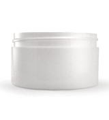 6 oz White Plastic Jar THICK WALL  6-89-TW-WPP
