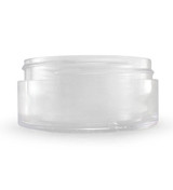 2 oz Clear Plastic Jar THICK WALL 2-70-TW-CPS