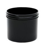4 oz Black Plastic Jar REGULAR WALL4-70-BPP