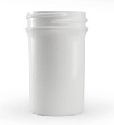 2 oz White Plastic Jar REGULAR WALL 2-43-WPP