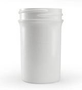 2 oz White Plastic Jar REGULAR WALL 2-43-WPP