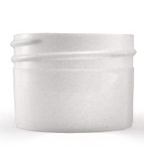 1/2 oz White Plastic Jar REGULAR WALL 1/2-38-WPP