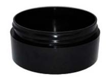 2 oz Black Plastic Jar THICK WALL 2-70-TW-BPP