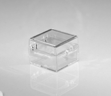 1 X 1 X 3 4 Small Plastic Box With Hinged Lid 112