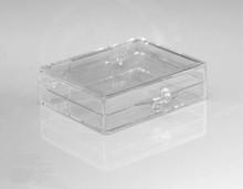 """Plastic Hinged Lid Box - 2-1/8"""" x 1-5/8"""" x 1/2"""""""