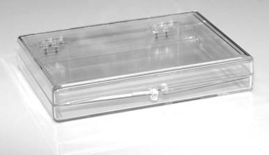 """Plastic Hinged Lid Box - 3-9/16"""" x 2-9/16"""" x 1/2"""""""