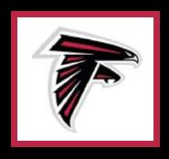 """Atlanta Falcons Logo Crochet Graph Afghan Pattern.  All done in single crochet, changing colors as you go along.  Drop one color, pull in the next.  Medium ability.  Size works up to be approx. 50 x 70"""".  Graph is 100 stitches wide by 140 stitches high.  Then you crochet 22 rows around the outside edge including a border, if you would like it larger.  Complete instructions are included, a full size graph, and a Helpful Hints page. DOWNLOADABLE"""