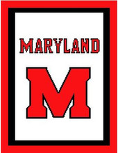 """Maryland University Logo Crochet Graph Afghan Pattern.  All done in single crochet, changing colors as you go along.  Drop one color, pull in the next.  Medium ability.  Size works up to be approx. 50 x 70"""".  Graph is 100 stitches wide by 140 stitches high.  Then you crochet 22 rows (or more) around the outside edge including a border, if you would like it larger.  Complete instructions are included, a full size graph, and a Helpful Hints page. DOWNLOADABLE WITH ORDER CONFIRMATION OR EMAIL ME IF YOU WANT IT MAILED."""