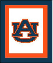 """Auburn University Logo Crochet Graph Afghan Pattern.  All done in single crochet, changing colors as you go along.  Drop one color, pull in the next.  Medium ability.  Size works up to be approx. 50 x 70"""".  Graph is 100 stitches wide by 140 stitches high.  Then you crochet 22 rows (or more) around the outside edge including a border, if you would like it larger.  Complete instructions are included, a full size graph, and a Helpful Hints page. DOWNLOADABLE WITH PAYMENT CONFIRMATION OR EMAIL ME IF YOU'D RATHER HAVE IT MAILED."""