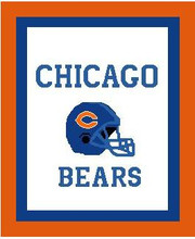 """Chicago Bears Football Helmet Crochet Graph Afghan Pattern.  All done in single crochet, changing colors as you go along.  Drop one color, pull in the next.  Medium ability.  Size works up to be approx. 50 x 70"""".  Graph is 170 stitches wide by 172 stitches high + 40 more rows.  Then you crochet 22 rows around the outside edge including a border, if you would like it larger.  Complete instructions are included, a full size graph, and a Helpful Hints page. DOWNLOAD WILL BE SENT TO YOU WITH ORDER CONFIRMATION."""