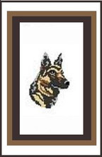 """German Shepherd Crochet Afghan Graph Pattern.  All done in single crochet, changing colors as you go along.  Drop one color, pull in the next.  Medium ability.  Size works up to be approx. 40 x 60"""".  Graph is 64 stitches wide by 104 stitches high.  Then you crochet 22 rows (or more) around the outside edge including a border.  Complete instructions are included, a full size graph, and a Helpful Hints page. DOWNLOAD will be emailed to you within the Order Confirmation in 20 minutes.  Just click """"Download Files"""" and Enjoy!"""