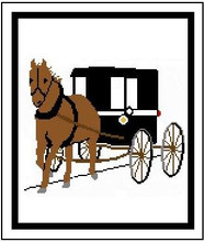 """Horse & Buggy Crochet Afghan Graph Pattern.  All done in single crochet, changing colors as you go along.  Drop one color, pull in the next.  Medium ability.  Size works up to be approx. 50 x 70"""".  Graph is 135 stitches wide by 175 stitches high.  Then you crochet 22 rows (or more) around the outside edge including a border.  Complete instructions are included, a full size graph, and a Helpful Hints page. DOWNLOAD WILL BE EMAILED TO YOU WITHIN 20 MINUTES OF PLACING ORDER.  Just click on """"Download Files"""".  Or, if you'd rather have it mailed to you, email me.  Enjoy!"""