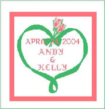 """Wedding Day Crochet Afghan Graph Pattern. Can be customized with names and dates for an extra $10.00, INQUIRE.  All done in single crochet, changing colors as you go along.  Drop one color, pull in the next.  Medium ability.  Size works up to be approx. 50 x 70"""".  Graph is 145 stitches wide by 185 stitches high.  Then you crochet 22 rows (or more) around the outside edge including a border.  Complete instructions are included, a fll size graph, and a Helpful Hints page."""