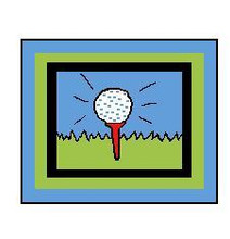 """Golf Ball and Tee Crochet Afghan Graph Pattern. LARGE.  All done in single crochet, changing colors as you go along.  Drop one color, pull in the next.  Medium ability.  Size works up to be approx. 60 x 80"""".  Graph is 130 stitches wide by 170 stitches high.  Then you crochet 22 rows (or more) around the outside edge including a border, if needed  to make it larger.  Complete instructions are included, a full size graph, and a Helpful Hints page. Download will be emailed to you within 20 minutes of order.  OR, if you'd rather have it mailed, put a note in your order to that effect.  Enjoy!"""