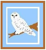 """Snowy Owl Crochet Afghan Graph Pattern, like Harry Potter's.  All done in single crochet, changing colors as you go along.  Drop one color, pull in the next.  Medium ability.  Size works up to be approx. 40 x 60"""".  Graph is 64 stitches wide by 104 stitches high.  Then you crochet 22 rows (or more) around the outside edge including a border.  Complete instructions are included, a full size graph, and a Helpful Hints page. DOWNLOADABLE WITH ORDER CONFIRMATION.  OR if you rather have it mailed, email me."""