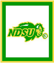 """NDSU Bisons Crochet Afghan Graph Pattern.  All done in single crochet, changing colors as you go along.  Drop one color, pull in the next.  Medium ability.  Size works up to be approx. 50 x 70"""".  Graph is 100 stitches wide by 140 stitches high.  Then you crochet 22 rows (or more) around the outside edge including a border.  Complete instructions are included, a full size graph, and a Helpful Hints page. DOWNLOADABLE WHEN ORDER CONFIRMATION IS RECEIVED WITHIN 20 MINUTES (JUST CLICK """"DOWNLOAD FILES"""") OR EMAIL ME IF YOU WANT IT MAILED. ENJOY!"""