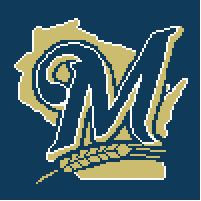 """Milwaukee Brewers Crochet Afghan Graph Pattern.  All done in single crochet, changing colors as you go along.  Drop one color, pull in the next.  Medium ability.  Size works up to be approx. 50 x 70"""".  Graph is 100 stitches wide by 140 stitches high.  Then you crochet 22 rows (or more) around the outside edge including a border.  Complete instructions are included, a full size graph, and a Helpful Hints page. DOWNLOAD OR EMAIL ME IF YOU WANT IT MAILED."""