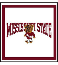 """Mississippi State Crochet Afghan Graph Pattern.  All done in single crochet, changing colors as you go along.  Drop one color, pull in the next.  Medium ability.  Size works up to be approx. 50 x 70"""".  Graph is 125 stitches wide by 165 stitches high.  Then you crochet 22 rows (or more) around the outside edge including a border.  Complete instructions are included, a full size graph, and a Helpful Hints page. DOWNLOADABLE WITH ORDER CONFIRMATION OR EMAIL ME IF YOU WOULD LIKE IT MAILED."""