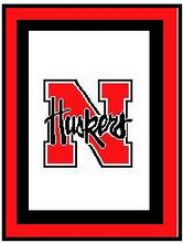 """Nebraska Cornhuskers Crochet Afghan Graph Pattern.  All done in single crochet, changing colors as you go along.  Drop one color, pull in the next.  Medium ability.  Size works up to be approx. 50 x 70"""".  Graph is 100 stitches wide by 140 stitches high.  Then you crochet 22 rows (or more) around the outside edge including a border.  Complete instructions are included, a full size graph, and a Helpful Hints page. DOWNLOADABLE"""