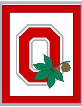 """Ohio State Buckeyes O Leaf Crochet Afghan Graph Pattern.  All done in single crochet, changing colors as you go along.  Drop one color, pull in the next.  Medium ability.  Size works up to be approx. 50 x 70"""".  Graph is 100 stitches wide by 140 stitches high.  Then you crochet 22 rows (or more) around the outside edge including a border.  Complete instructions are included, a full size graph, and a Helpful Hints page. DOWNLOAD will be emailed to you within your Order Confirmation within 20 minutes.  Enjoy!"""