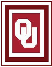"""Oklahoma University Crochet Afghan Graph Pattern.  All done in single crochet, changing colors as you go along.  Drop one color, pull in the next.  Medium ability.  Size works up to be approx. 50 x 70"""".  Graph is 100 stitches wide by 140 stitches high.  Then you crochet 22 rows (or more) around the outside edge including a border.  Complete instructions are included, a full size graph, and a Helpful Hints page. DOWNLOAD will be emailed to you within 20 minutes of completion of order.  Just click on """"Download Files"""".  IF YOU WOULD  RATHER HAVE IT MAILED TO YOU, EMAIL ME."""