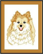 "Pomeranian Crochet Afghan Graph Pattern.  All done in single crochet, changing colors as you go along.  Drop one color, pull in the next.  Medium ability.  Size works up to be approx. 40 x 60"".  Graph is 64 stitches wide by 104 stitches high.  Then you crochet 22 rows (or more) around the outside edge including a border.  Complete instructions are included, a full size graph, and a Helpful Hints page. DOWNLOAD or can be MAILED if you mention it with order."