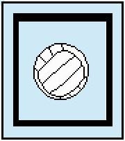"""Volleyball Crochet Afghan Graph Pattern.  All done in single crochet, changing colors as you go along.  Drop one color, pull in the next.  Medium ability.  Size works up to be approx. 40 x 60"""".  Graph is 64 stitches wide by 104 stitches high.  Then you crochet 22 rows (or more) around the outside edge including a border.  Complete instructions are included, a full size graph, and a Helpful Hints page. Download will be emailed to you within the Order Confirmation.  Just click """"Download Files"""".  Enjoy!"""