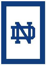 """Notre Dame Logo Crochet Graph Afghan Pattern.  All done in single crochet, changing colors as you go along.  Drop one color, pull in the next.  Medium ability.  Size works up to be approx. 50 x 70"""".  Graph is 100 stitches wide by 140 stitches high.  Then you crochet 22 rows (or more) around the outside edge including a border, if you would like it larger.  Complete instructions are included, a full size graph, and a Helpful Hints page. DOWNLOAD WILL BE SENT TO YOU WITH YOUR CONFIRMATION WITHIN 20 MINUTES.  JUST CLICK ON """"DOWNLOAD FILES"""".  Or email me if you'd rather have it mailed. Enjoy!"""