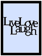 """Live, Love, Laugh Crochet Afghan Graph Pattern.  All done in single crochet, changing colors as you go along.  Drop one color, pull in the next.  Medium ability.  Size works up to be approx. 50 x 70"""".  Graph is 101 stitches wide by 141 stitches high.  Then you crochet 22 rows (or more) around the outside edge including a border.  Complete instructions are included, a full size graph, and a Helpful Hints page. DOWNLOAD IS SENT TO YOU WITH CONFIRMATION OF ORDER."""