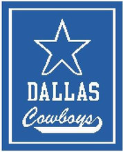 """Dallas Cowboys STAR Crochet Graph Afghan Pattern.  All done in single crochet, changing colors as you go along.  Drop one color, pull in the next.  Medium ability.  Size works up to be approx. 50 x 70"""".  Graph is 115 stitches wide by 150 stitches high.  Then you crochet 22 rows around the outside edge including a border, if you would like it larger.  Complete instructions are included, a full size graph, and a Helpful Hints page. DOWNLOAD IS WILL BE SENT TO YOU AFTER ORDER CONFIRMATION."""