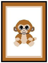"""Coconut the Monkey Beanie Boo Crochet Afghan Graph Pattern.  All done in single crochet, changing colors as you go along.  Drop one color, pull in the next.  Medium ability.  Size works up to be approx. 40 x 60"""".  Graph is 64 stitches wide by 104 stitches high.  Then you crochet 22 rows (or more) around the outside edge including a border.  Complete instructions are included, a full size graph, and a Helpful Hints page. DOWNLOAD WILL BE EMAILED TO YOU WITHIN 20 MINUTES OF PLACING ORDER.  Just click """"Download Files"""".  OR, if you would rather have it mailed to you, put a note in your order or send a separate email to me after ordering.  Enjoy!"""