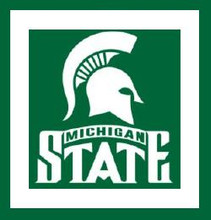 """Michigan State University Logo Graph Afghan Pattern.  All done in single crochet, changing colors as you go along.  Drop one color, pull in the next.  Medium ability.  Size works up to be approx. 50 x 70"""".  Graph is usually 100 stitches wide by 140 stitches high.  Then you crochet 22 rows around the outside edge including a border, if you would like it larger.  Complete instructions are included, a full size graph, and a Helpful Hints page. DOWNLOAD WILL BE EMAILED TO YOU WITHIN 20 MINUTES OF ORDER CLOSE.  ENJOY!"""