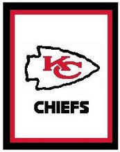 """Kansas City Chiefs LOGO Crochet Graph Afghan Pattern.  All done in single crochet, changing colors as you go along.  Drop one color, pull in the next.  Medium ability.  Size works up to be approx. 50 x 70"""".  Graph is 140 stitches wide by 170 stitches high.  Then you crochet 22 rows around the outside edge including a border, if you would like it larger.  Complete instructions are included, a full size graph, and a Helpful Hints page. The Download will be emailed to you within the Order Confirmation.  Just click on """"Download Files"""" and Enjoy!"""