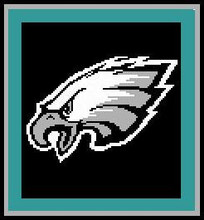 """Philadelphia Eagles Crochet Graph PILLOW Pattern.  All done in single crochet, changing colors as you go along.  Drop one color, pull in the next.  Medium ability.  Size works up to be approx. 28X28"""".  Graph is 60 stitches wide by 60 stitches high.  Then you crochet a second backside in solid color and crochet the 2 together and add a border. Instructions are included, plus a full size graph, and a Helpful Hints page. DOWNLOAD PATTERN WILL BE EMAILED TO YOU WITHIN THE CONFIRMATION EMAIL.  JUST CLICK """"Download Files"""".  Enjoy!"""
