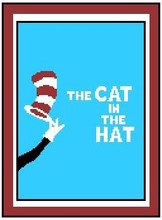 """The Cat in the Hat #2 Crochet Afghan Graph Pattern.  All done in single crochet, changing colors as you go along.  Drop one color, pull in the next.  Medium ability.  Size works up to be approx. 40 x 60"""".  Graph is 100 stitches wide by 140 stitches high.  Then you crochet 22 rows (or more) around the outside edge including a border.  Complete instructions are included, a full size graph, and a Helpful Hints page. DOWNLOAD WILL BE SENT TO YOU IN YOUR ORDER CONFIRMATION EMAIL.  Just Click """"Download Files"""" and Enjoy!"""