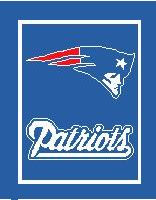 """New England Patriots Crochet Graph Afghan Pattern.  All done in single crochet, changing colors as you go along.  Drop one color, pull in the next.  Medium ability.  Size works up to be approx. 50 x 70"""".  Graph is 116 stitches wide by 156 stitches high.  Then you crochet 22 rows around the outside edge including a border, if you would like it larger.  Complete instructions are included, a full size graph, and a Helpful Hints page. DOWNLOAD WILL BE EMAILED TO YOU WITHIN 20 MINUTES. ENJOY!"""
