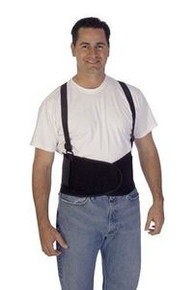 """Liberty 1908 Medium Black Back Support With Suspenders 36-40"""""""