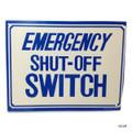 "BLUE DEVIL POOL ACCESSORIES | EMERGENCY SHUT OFF 12""x9"" | POOL SIGN | B8760"