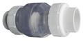 "FLO CONTROL | CLEAR PVC BODY WITH 2"" SLIP 9440B WHITE PVC UNIONS | 1720C-20"