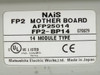 NAIS 14 Slot Backplane w PSA3, FP2-C2, PP42 x3, X64D2 x4, Y64T x3 (FP2-BP14)