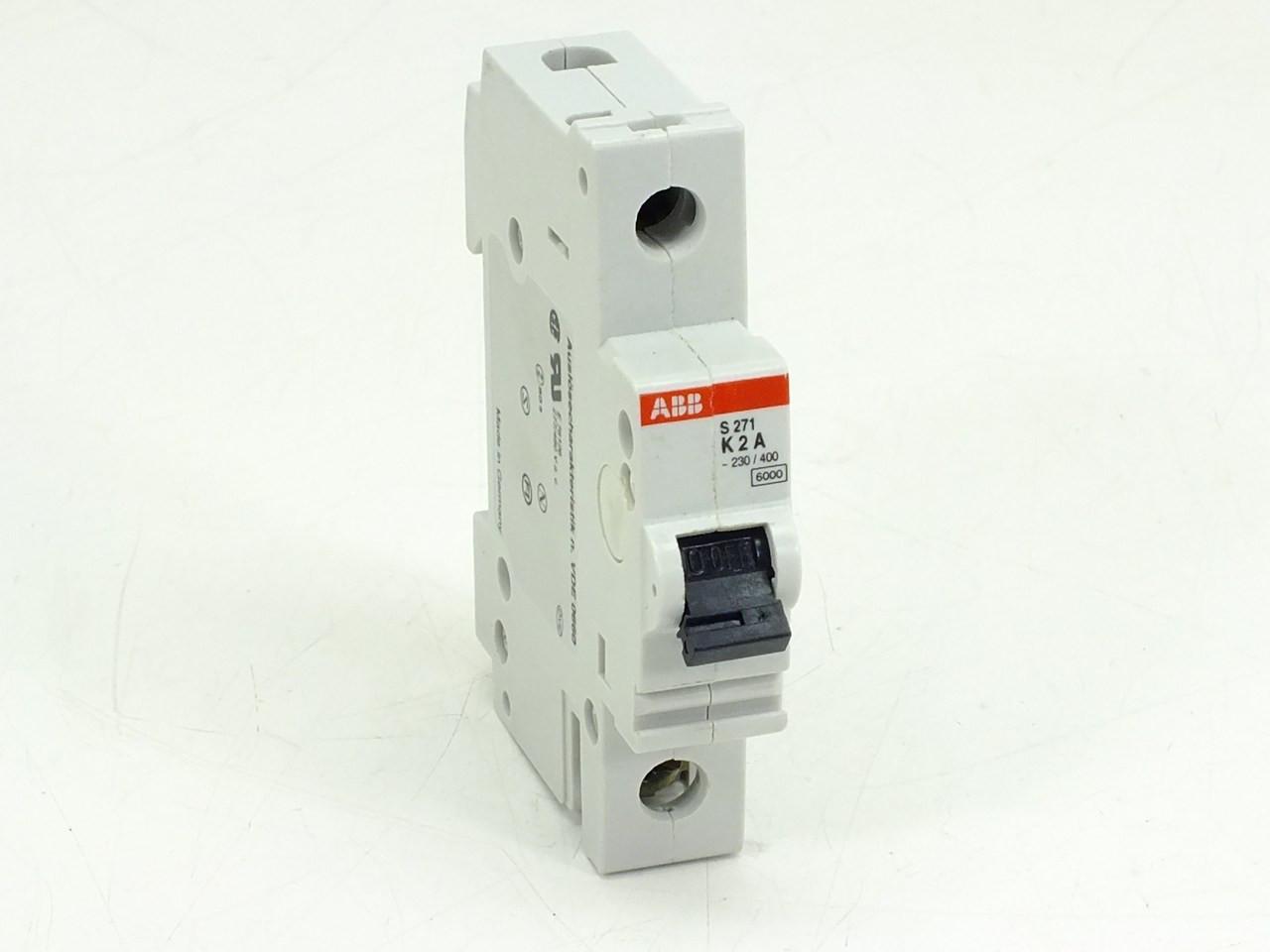 Abb S271 K2a Circuit Breaker 2amp 1pole 277 480vac