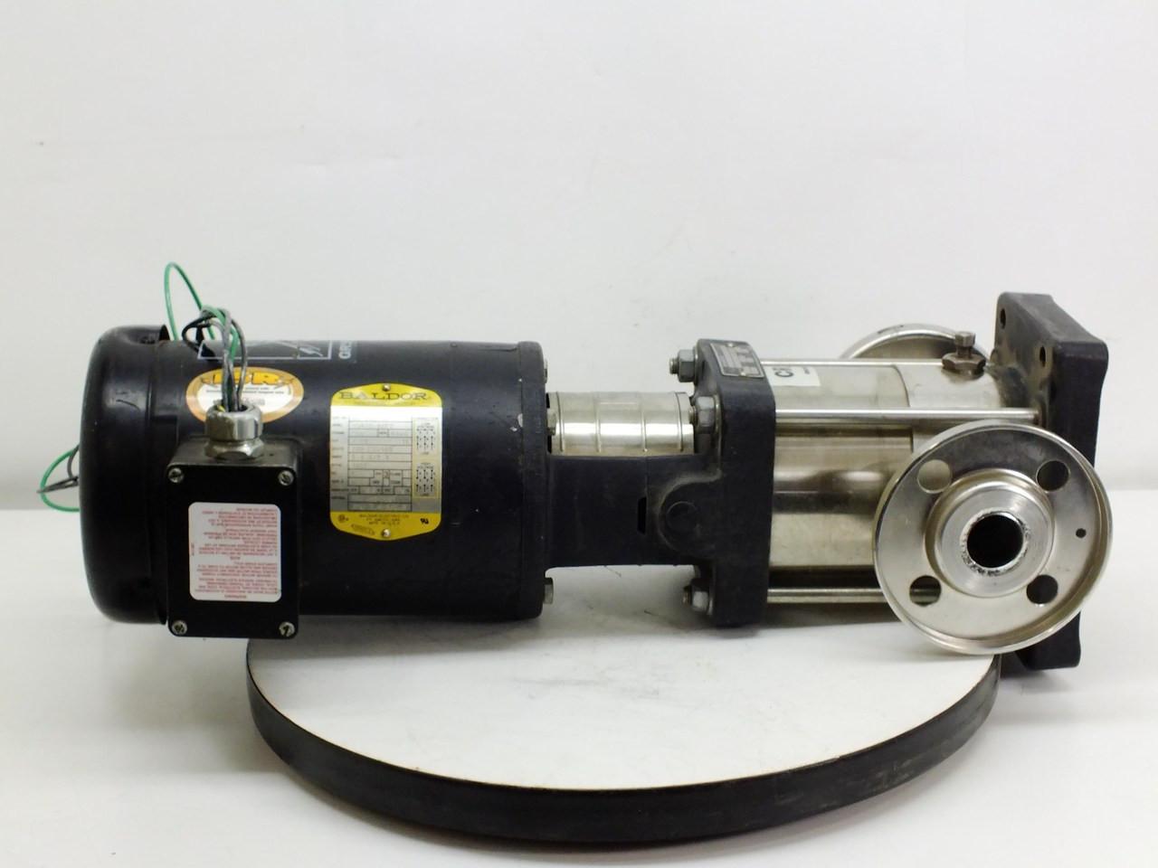 Baldor 1 5 hp motor with grundfos cr 2 water for Baldor 1 5 hp motor