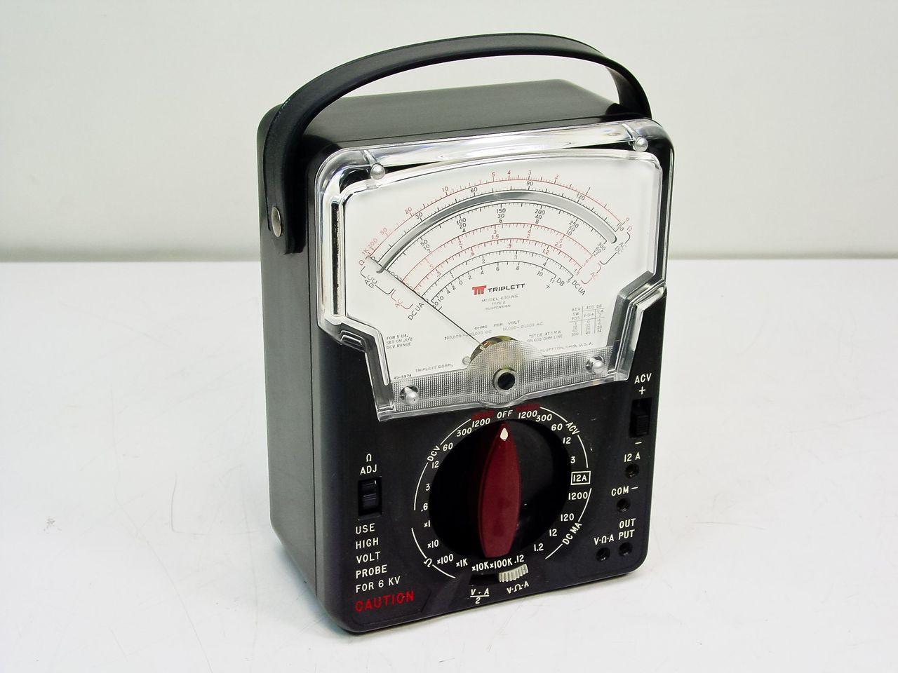 Triplett Analog Multimeter : Triplett ns analog volt ohm meter multimeter vom as