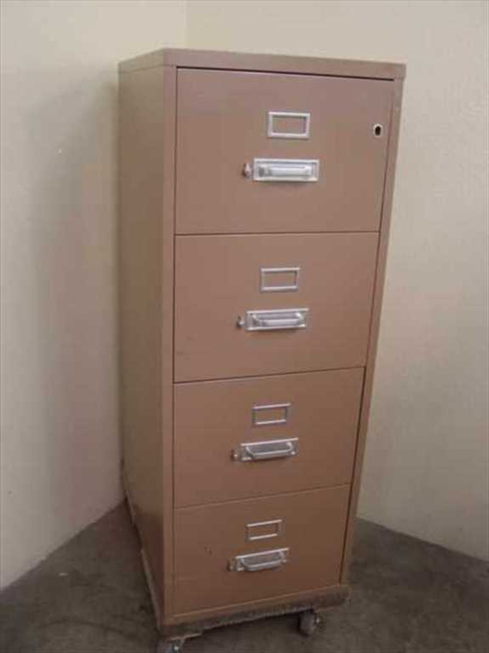 HON 4-Drawer Legal 4 Drawer Vertical File Cabinet - Fireproof ...