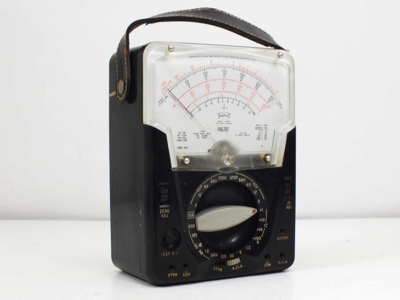 Triplett Analog Multimeter : Triplett model analog vacuum tube voltmeter and vom