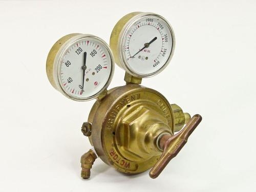 Victor Compressed Gas Regulator with 2 Gauges 0 - 125 PSI (R 400 D)