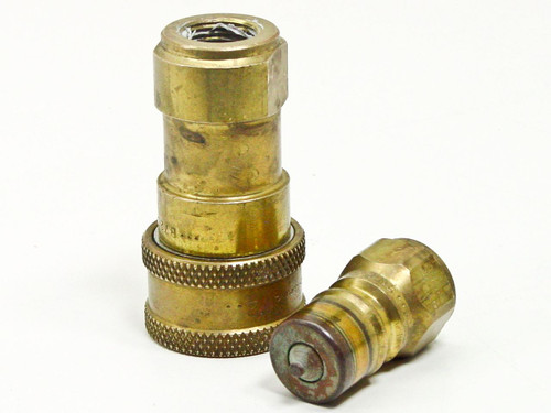 Snap-Tite Quick Disconnect Brass Male Female Coupler Plug Set (72 Series)